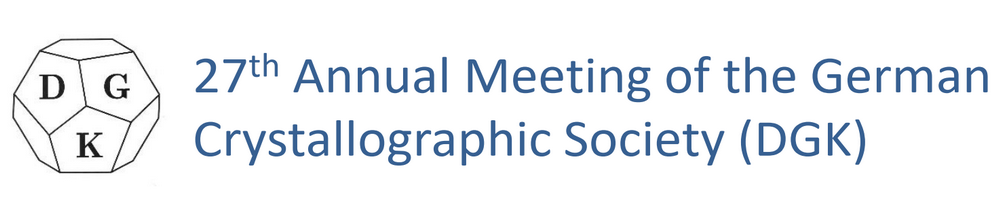 Annual Meeting of the German Crystallographic Society (DGK)