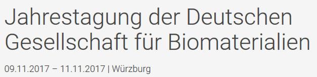 Jahrestagung der Deutschen Gesellschaft für Biomaterialien
