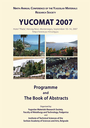 Book of abstracts YUCOMAT 2007
