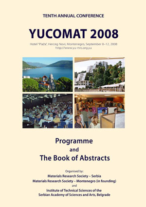 YUCOMAT 2008 Book of abstracts